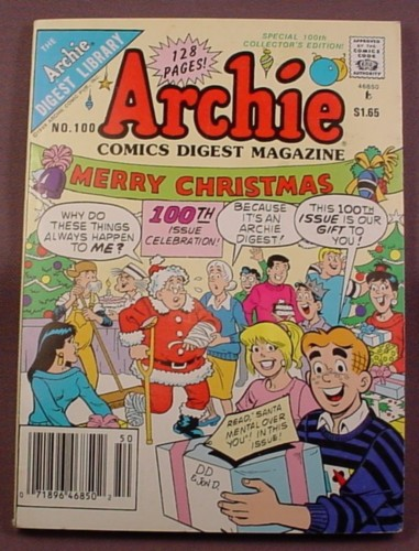 Archie Comics Digest Magazine #100, Feb 1990, Very Good Condition