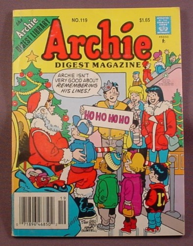 Archie Digest Magazine Comic #119, Feb 1993, Good Condition