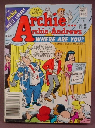 Archie Andrews Where Are You Comics Digest #67, Apr 1990
