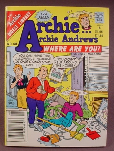 Archie Andrews Where Are You Comics Digest #68, June 1990