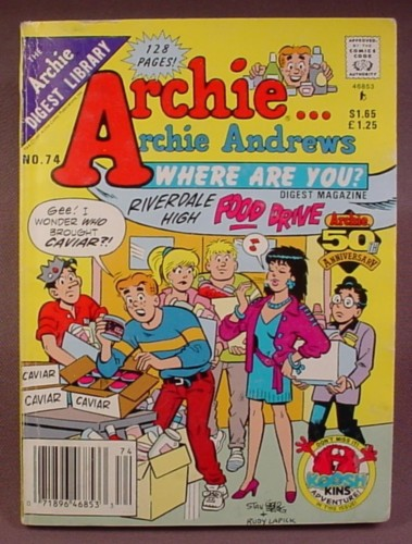 Archie Andrews Where Are You Comics Digest #74, June 1991