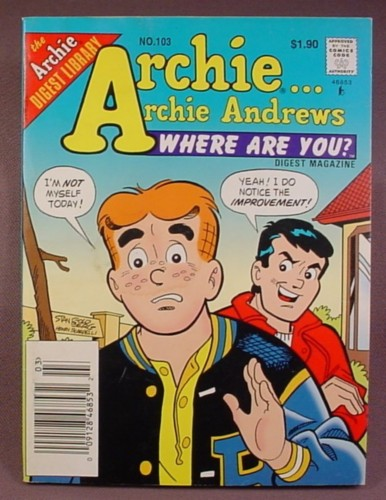 Comic Digest Magazine in full color A is for Archie NO. 51 Archie Comic Digest