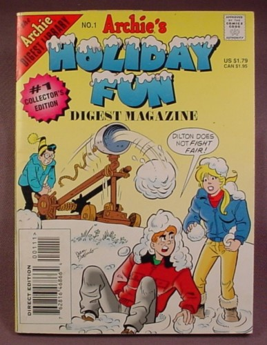 Archie's Holiday Fun Digest Magazine Comic #1, Feb 1997, Direct Edition