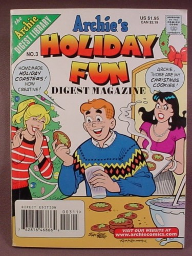 Archie's Holiday Fun Digest Magazine Comic #3, Feb 1999, Direct Edition
