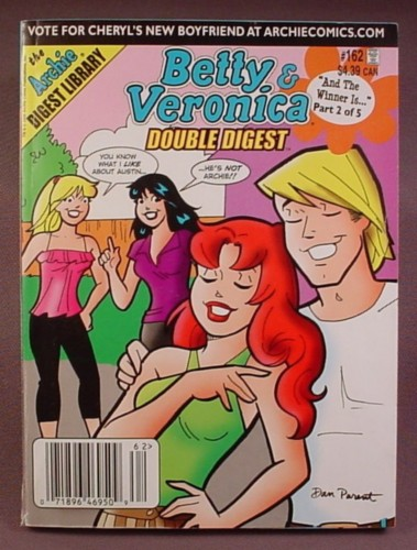 Betty And Veronica Double Digest Comic #162, Sept 2008