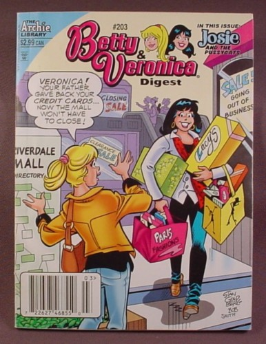 Betty And Veronica Digest Comic #203, June 2010