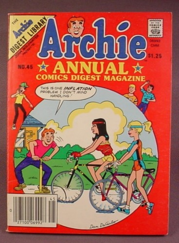 Archie Annual Comics Digest Magazine #45, 1984
