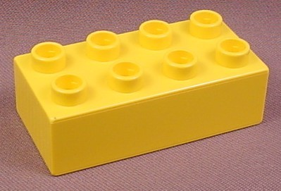 Lego Duplo 3011 Yellow 2x4 Brick, Native American Indians