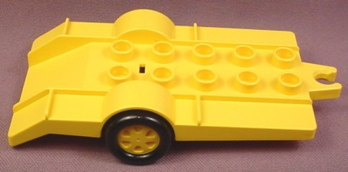 Lego Duplo 2320 Yellow Vehicle Trailer with Ramp, 2x5 Studs, Racing Team
