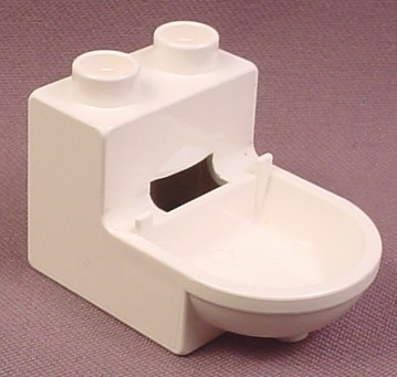Lego Duplo 4911 White Toilet Base, Furniture, Playhouse
