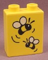 Lego Duplo 4066BPX031 Yellow 1x2x2 Brick with Bumble Bees Pattern, Winnie The Pooh
