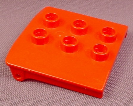 Lego Duplo 4543 Red 3x3 Vehicle Cabin Roof, Bob The Builder, Trains