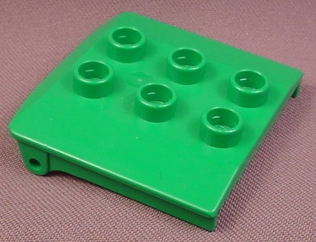 Lego Duplo 4543 Green 3x3 Vehicle Cabin Roof, Bob The Builder