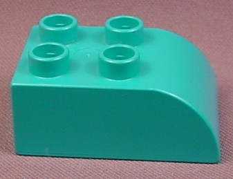 Lego Duplo 2302 Teal 2x3 Brick with Curved Top, Dora The Explorer