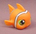Littlest Pet Shop #130 Orange Nemo Clown Fish, 2004 Hasbro