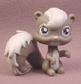 Littlest Pet Shop #132 Gray Squirrel with Pink & Purple Eyes, 2005 Hasbro