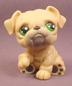 littlest pet shop bulldog littlest pet shop 107 tan or cream bulldog puppy dog with 8207