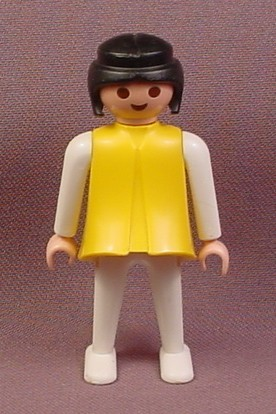 Playmobil Adult Female Classic Style Figure In A Yellow Dress With White Sleeves & White Pants