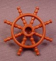 Playmobil Brown Ship's Steering Wheel, 4806, Ghost Pirate Ship, Pirates, Captain's Wheel