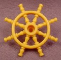 Playmobil Gold Yellow Captain's Wheel for Ship, 3029 4067 5775 5810, Pirates