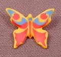 Playmobil Orange Butterfly with Blue & Red Pattern Animal Figure, 4093 4095 4827 5004 5021