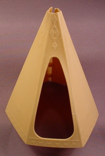 Playmobil Light Brown Tan Beige Tepee Tent Cover, Native American Indian, Teepee, 3406 3483 3621