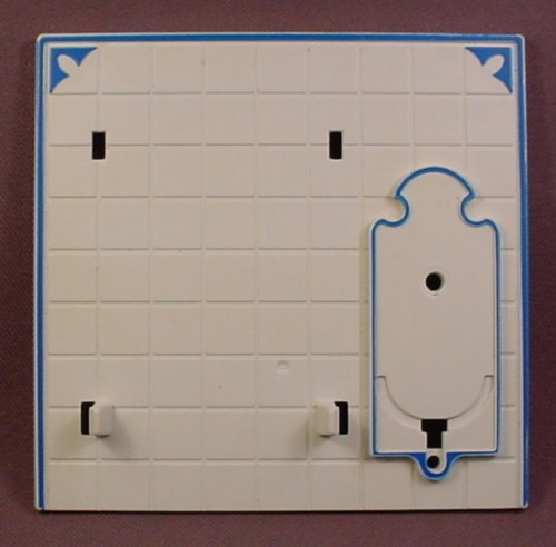 Playmobil Victorian Kitchen White Wall With Space For A Tap & Sink, Has Notches & Clips