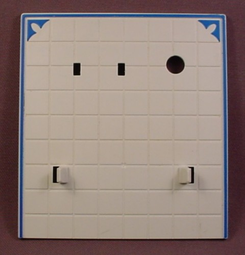 Playmobil Victorian Kitchen White Wall With A Hole For A Stove Pipe, Has Notches & Clips