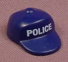 Playmobil Dark Blue Baseball Style Hat with POLICE on the Front, 4218 5878, Klicky Wearable