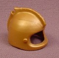 Playmobil Gold Helmet With Visor Pegs And A Top Ridge With Feather Clip, 3024 3372 3654 5850