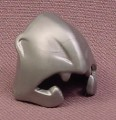 Playmobil Silver Gray Barbarian Helmet With Cheek Guards & Face Design, 4270 4437 4439 4440 5787