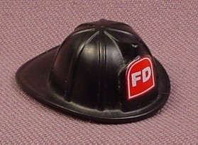Playmobil Black Firefighter Helmet With FD On The Front, 3386 4621 5705 5716 5721 5796, Fire Fighter
