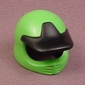 Playmobil Green Motorcycle Helmet with Fixed Black Visor, 4427, Motocross, Klicky Wearable