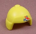 Playmobil Lime Green Yellow Toque Hat With Ear Flaps & A Dinosaur Expedition Logo, 3184, 30 62 3132