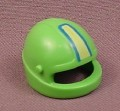 Playmobil Light Green Motorcycle Helmet With A Yellow & Blue Stripe, 3399, 30 62 4622