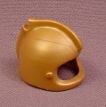 Playmobil Gold Rounded Helmet with Top Ridge & Feather Clip, 3024 3372 3654 5850, Klicky