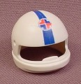Playmobil White Motorcycle Helmet With A Paramedic Logo & A Blue Stripe, 3924, 30 62 6560