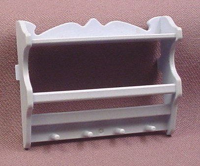 Playmobil Light Blue Victorian Kitchen Wall Rack For Dishes, 5317 5322, Has 2 Tabs On The Back