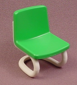 Playmobil Green Modern Chair With A White Tubular Frame, 3522, The Green Seat Is 30 04 1830