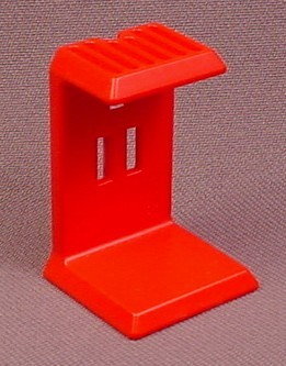 Playmobil Red Stand For A Garbage Can & Sign Post, 3820 3822 4070, 30 08 8250