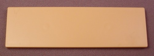 Playmobil Beige or Tan Rectangular Table Top, 4320, Furniture, System X, 4 1/8 Inches Long