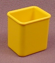 Playmobil Yellow Garbage Can With A Clip To Attach It To A Pole Or Post, 3254 3782 3820 3822 4070