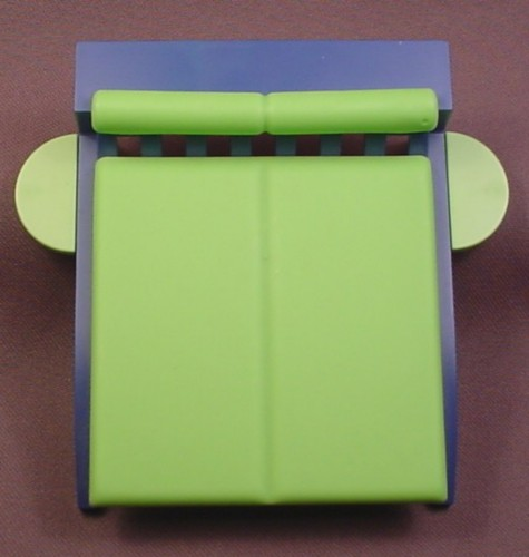 Playmobil Blue & Neon Green Modern Double Bed With A Mattress, Has Cushion Bolster, 3967