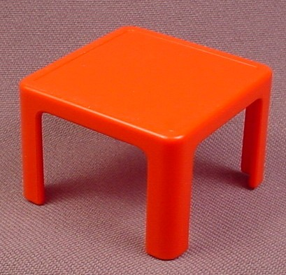 Playmobil Small Square Red Table, 3290, 1 5/8 Inches Square, P3290C