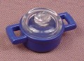 Playmobil Dark Blue Round Pot With Handles & Clear Lid, 3968 4055 4062 4283 5582