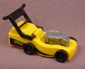 Playmobil Yellow Lawnmower With A Black Handle & Wheels And A Silver Gray Motor, 3233 4280 7490