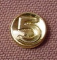 Playmobil Shiny Gold Number 5 Coin, 3550 4156 4295 4444 4469, 30 70 1262