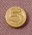 Playmobil Dull Gold Number 5 Coin, 3053 3841 3858 3859 3951 4075 4544 7138 9989, 30 61 0570