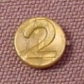 Playmobil Dull Gold Number 2 Coin, 3053 3841 3858 3859 3951 4075 4544 7138 9989, 30 61 0570