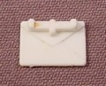 Playmobil Small White Letter Envelope Or Mail With Hand Grip, 1/2 Inch Long, 3309 3954 3957 7224